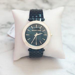 🔥 MICHAEL KORS Darci Black Dial Ion-plated Watch